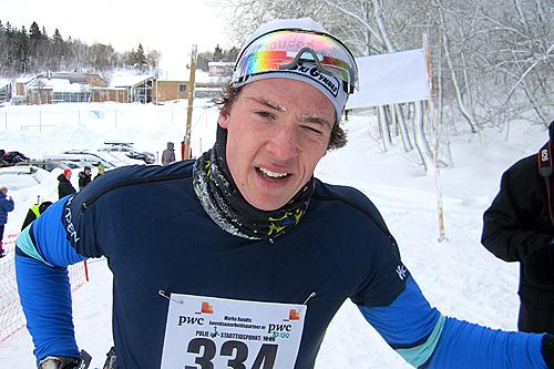 Ånund Lid Byggland etter seieren i Marka Rundt 2012. Foto: Odd Eirik Farestveit.