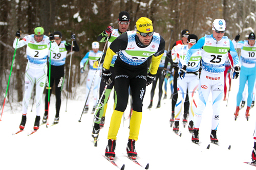 Thomas Alsgaard vant Hodelyktrennet 2012. Her er han på vei mot 5. plass i det 63 km lange Tartu Maraton 2012. Foto: Laiho/NordicFocus.