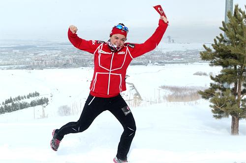 Hilde Losgård Landheim fra Tynset er av de som skal gå for Norge på sprinten under junior-VM 2012. Foto: Erik Borg.
