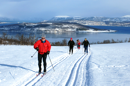 Fra løypetraseen til Kvaløya Skimaraton. Foto: Ole-André Helgaas.