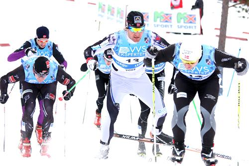 Illustrasjonsbilde fra sprinten under NM på Voss 2012. Foto: Geir Nilsen/Langrenn.com.