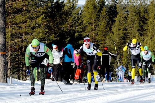 Jerry Ahrlin, Simen Østensen og Jörgen Brink i Vasaloppet 2011. Foto: Schmidt/NordicFocus.