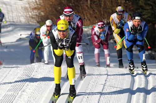 Thomas Henriksen tok spurtprisen ved Risberg, mens han i mål var nr. 15 i Vasaloppet 2012. Foto: Hemmersbach/NordicFocus.