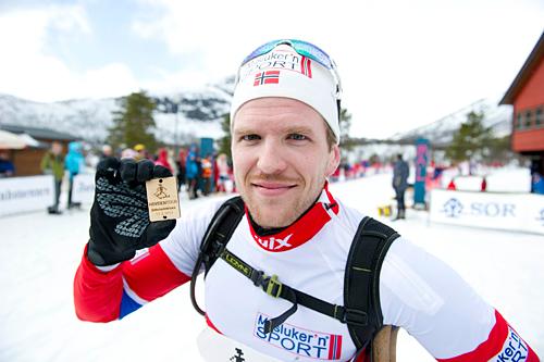 Svein Olav Utistog vant HovdenTour 2012. Foto: Hovden Tour, Anders Martinsen