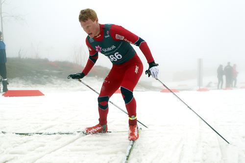 Vegard Bjerkreim Nilsen under junior-NM i Holmenkollen. Foto: Erik Borg