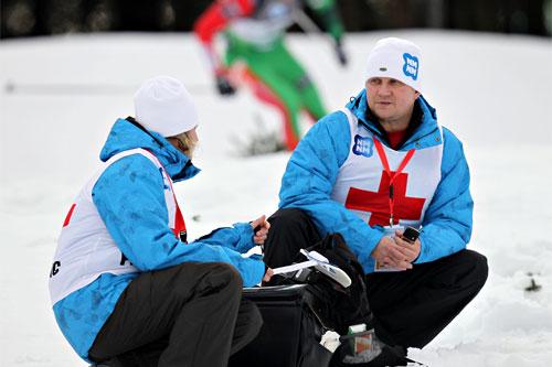 Helsepersonell klare for innsats. Foto: Manzoni/NordicFocus.