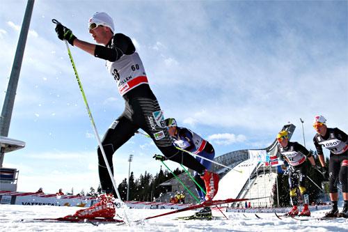 Anders Tettli Rennemo på 5-mila i Holmenkollen 2012. Foto: Laiho/NordicFocus.