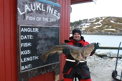 gregor med torsk på15 kg