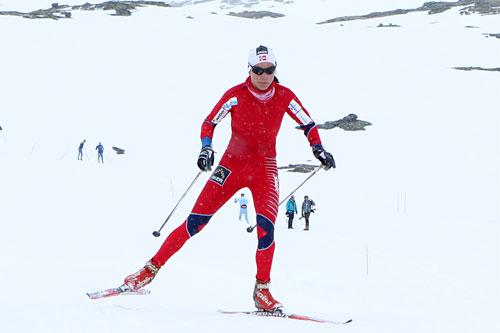 Heidi Weng imponerte stort i debutsesongen blant seniorene. Nå er hun på landslag med landets fremste utøvere. Foto: Erik Borg.