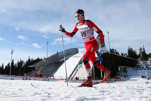 Didrik Tønseth fra Byåsen IL arbeider hardt for å legge til rette for en skadefri vinter. Talentet er stort. Utfordringen er å unngå skader som virker inn på både trening og prestasjoner under konkurranser. Foto: Laiho/NordicFocus.