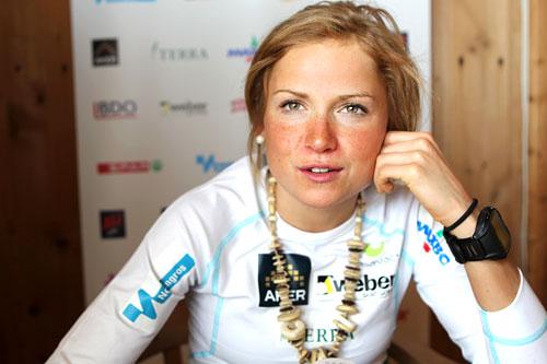 Marthe Kristoffersen på landslagets samling ved Sognefjellshytta i juni 2012. Foto: Erik Borg.