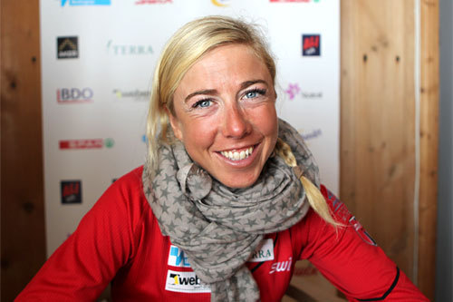 Kristin Størmer Steira på landslagets samling ved Sognefjellshytta i juni 2012. Foto: Erik Borg.