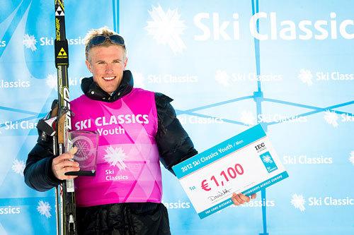 Morten Eide Pedersen etter totalseieren i Ski Classics Youth sesongen 2011-2012. Foto: Magnus Östh.