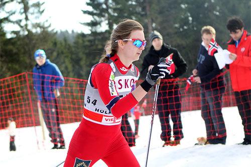 Celine Brun-Lie under verdenscupen i Holmenkollen i mars 2012. Foto: Erik Borg.