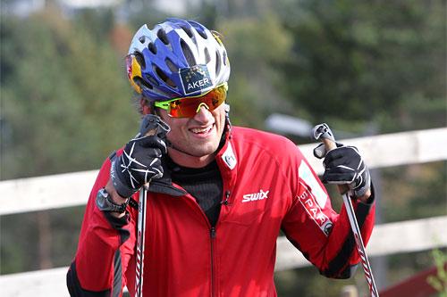 Petter Northug jr. er på full fart mot en ny vinter. Foto: Erik Borg.