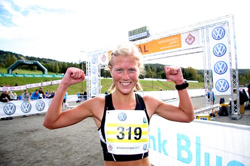 Marthe Katrine Myhre har i 2012 nok en gang vist allsidig styrke gjennom å vinne Birkebeinertrippelen totalt. Foto: Geir Nilsen/Langrenn.com.