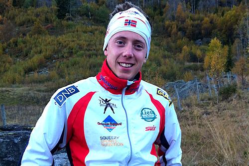 Håkon Ramstad holdt størst fart i Team Norgeshus sitt testrenn på Beitostølen torsdag. Foto: Team Norgeshus.