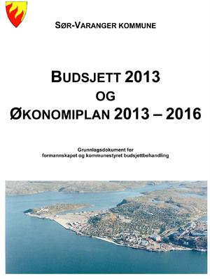 Forside Rådmannens forslag Budsjett og økonomiplan 2013-2016