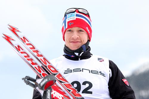 Ronny Fredrik Ansnes gikk et sterkt NM-løp, noe som resulterte i sølv på 15 kilometeren på Voss 2012. Foto: Geir Nilsen/Langrenn.com.