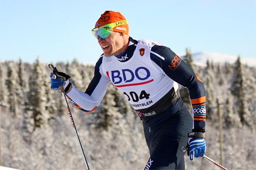 Bærre Næss i Beitosprintens 15 km klassisk 2012. Foto: Geir Nilsen/Langrenn.com.