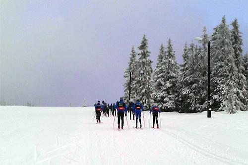Slik så det ut på Sjusjøen Langrennsarena tidligere i vinter. Foto: Dorte Finstad.