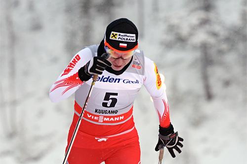 Justyna Kowalczyk holdt høyest fart av samtlige i prologen i verdenscupsprinten i Kuusamo 2012. Foto: Felgenhauer/NordicFocus.