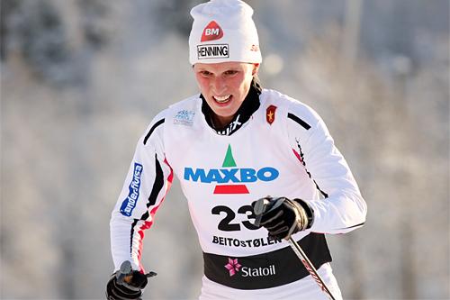 Kari Vikhagen Gjeitnes på vei mot 13. plass i Beitosprintens 10 km klassik 2012. Foto: Geir Nilsen/Langrenn.com.