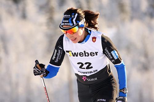 Maria Nysted Grønvoll underveis på 10 km klassisk stil i Beitosprinten 2012. Foto: Geir Nilsen/Langrenn.com.