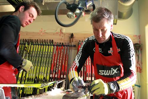 Racing-service i Holmenkollen. Foto: Manzoni/NordicFocus.