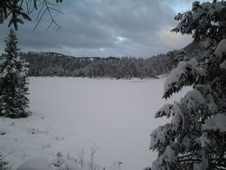Utsikt mot Eigelandsvatnet