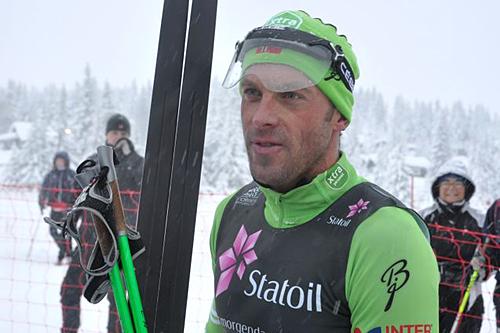 Anders Aukland vant 30 kilometer klassisk i Skandinavisk cup på Sjusjøen 2012 Foto: Lars Freng