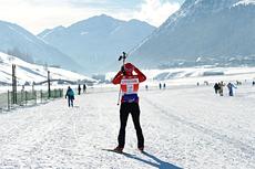 Petter Northug jr. før start i La Sgambeda 2012, hvor han senere avgjorde spurten til sin fordel. Sesongens første renn i FIS Marathon Cup 2012/2013. Foto: Felgenhauer/NordicFocus.