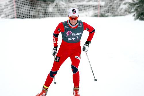 Didrik Tønseth i Skandinavisk Cup på Sjusjøen i desember 2012. Foto: Geir Nilsen/Langrenn.com.