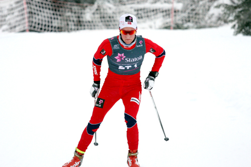 Didrik Tønseth leverte varene under Skandinavisk Cup på Sjusjøen i desember 2012. Foto: Geir Nilsen/Langrenn.com.