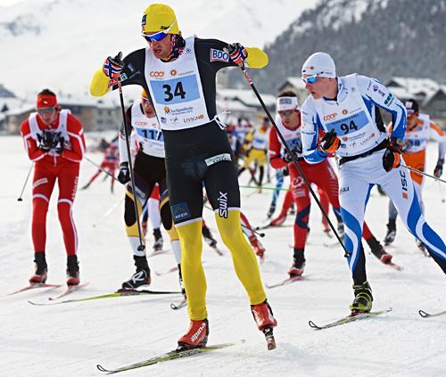 Petter Northug jr. på vei mot seier i La Sgambeda 2012. Sesongens første renn i FIS Marathon Cup. Foto: Felgenhauer/NordicFocus.