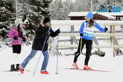 Utsnitt fra Siri Halle og Learn2ski sin YouTube-video Binte Skiing. Foto: YouTube/Learn2ski