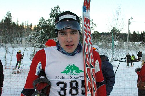 Hallvard Løfald tok hånd om seieren i Rindalsrennet i desember 2012. Foto: Tor Jarle Bolme.