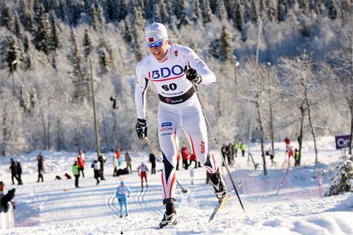 Petter Soleng Skinstad underveis i den nasjonale sesongåpningens 15 km klassisk i Beitosprinten 2012. Foto: Geir Nilsen/Langrenn.com.