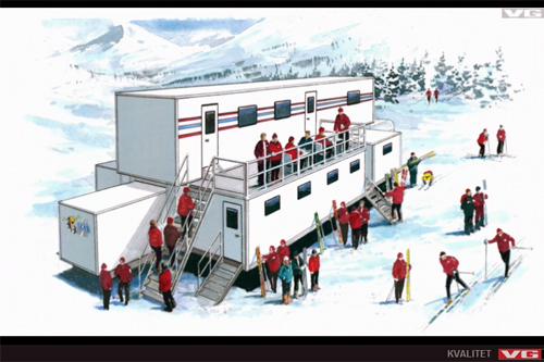 Norges nye smøretrailer fra sesongen 2013-2014 slik den fremstår i en video hos VG.no. Foto: Illustrasjon SKAB/VG.no.