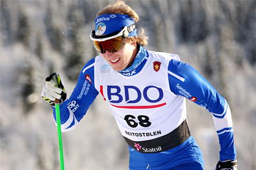 Eirik Kurland Olsen underveis i den nasjonale sesongåpningens 15 km klassisk i Beitosprinten 2012. Foto: Geir Nilsen/Langrenn.com.