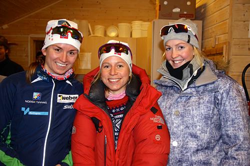 Topp tre i Ribberennet 2012. Fra venstre: Celine Brun-Lie, Tiril Eckhoff og Ane Sandaker Kvittingen. Arrangørfoto.