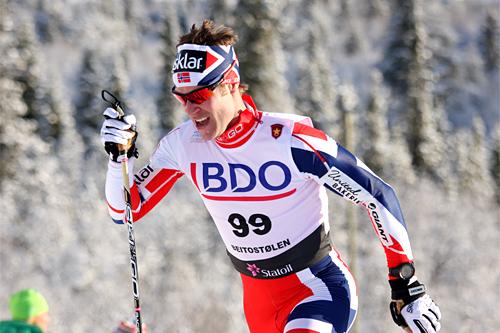 Svenske Anders Högberg fra Skogn IL og Team Skigo har tidligere vunnet Tour de Ski China. Også i år er han blant de påmeldte. Her er han underveis i den nasjonale sesongåpningens 15 km klassisk i Beitosprinten 2012. Foto: Geir Nilsen/Langrenn.com.