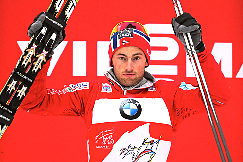 Petter Northug ble nummer tre på andre etappe av Tour de Ski 2012/2013, jaktstarten i Oberhof. Foto: Felgenhauer/NordicFocus
