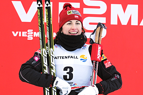 Justyna Kowalczyk vant overlegent jaktstarten i Oberhof under Tour de Ski 2012/2013. Foto: Felgenhauer/NordicFocus