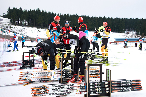 Forberedelser til Tour de Ski sin åpningsetappe. Foto: Felgenhauer/NordicFocus.
