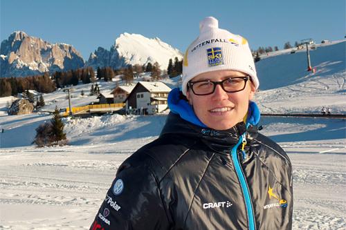 Ida Ingemarsdotter på samling i Seiser Alm ved inngangen til 2013. Foto: Petter Soleng Skinstad/Langrenn.com.