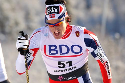 Tore Bjørseth Berdal underveis i den nasjonale sesongåpningens 15 km klassisk i Beitosprinten 2012. Foto: Geir Nilsen/Langrenn.com.
