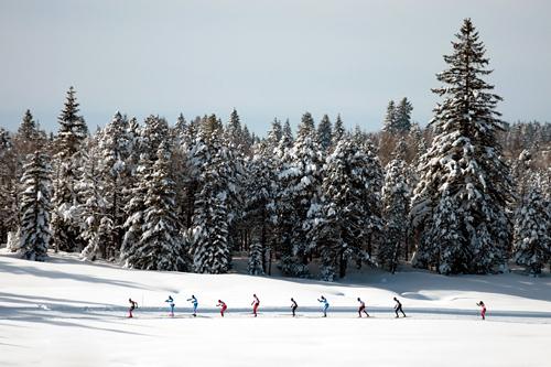 Nydelig bilde fra det franske langløpet La Transjurassienne 2013. Foto: Becker/NordicFocus.