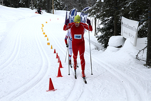 Jonas Nielsen vant onsdag kveld Hodelyktrennet. Her er han fra da det ble seier i Montebellorennet 2013. Foto: Montebelloarrangørene.