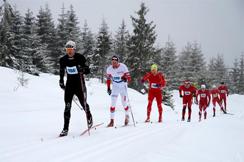 Løpere underveis i Montebellorennet 2013. Arrangørfoto.